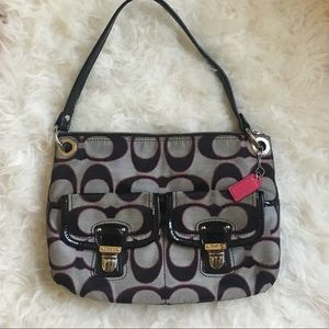 Coach Poppy Hippie black pink bag